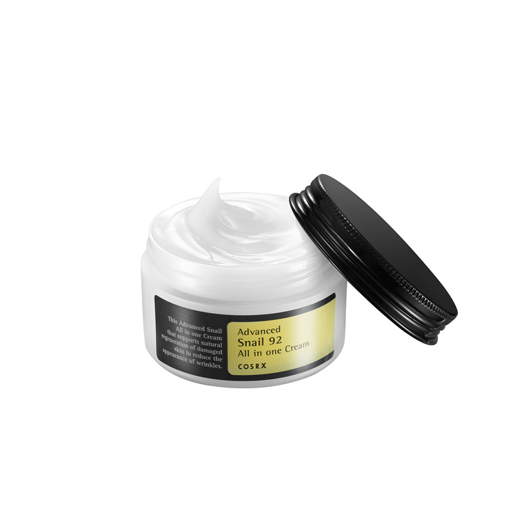 cosrx advanced snail 92 all in one moisturising cream with lid open