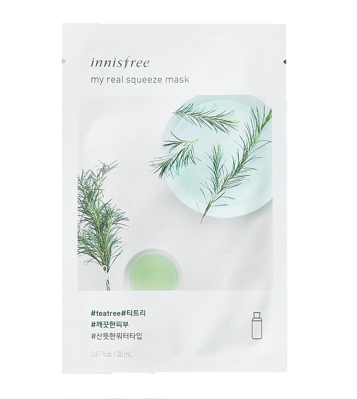 Innisfree My Real Squeeze Sheet Mask Tea Tree