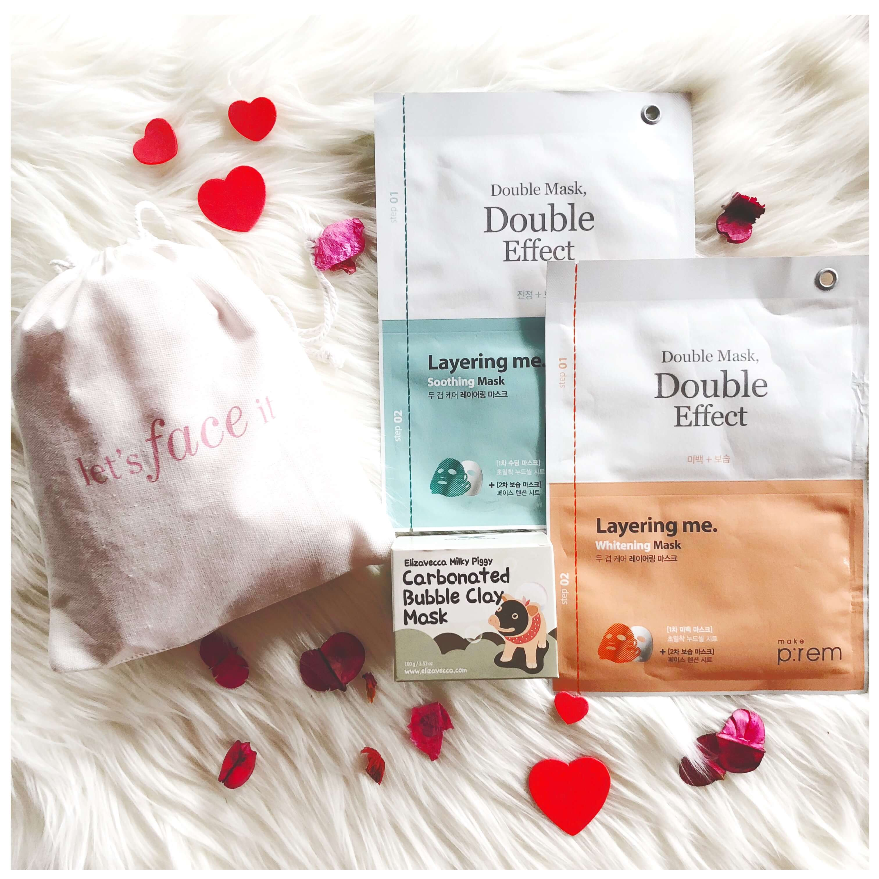 Valentine's Day korean beauty gift pack under $50 with elizavecca bubble clay mask