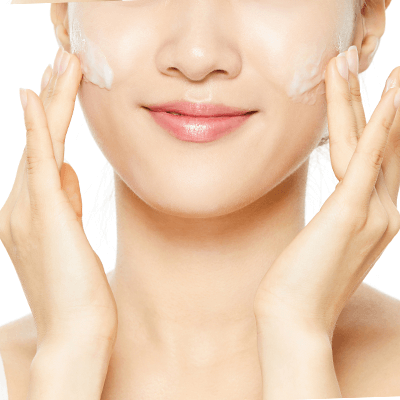 COSRX Low pH First Cleansing Milk Gel application
