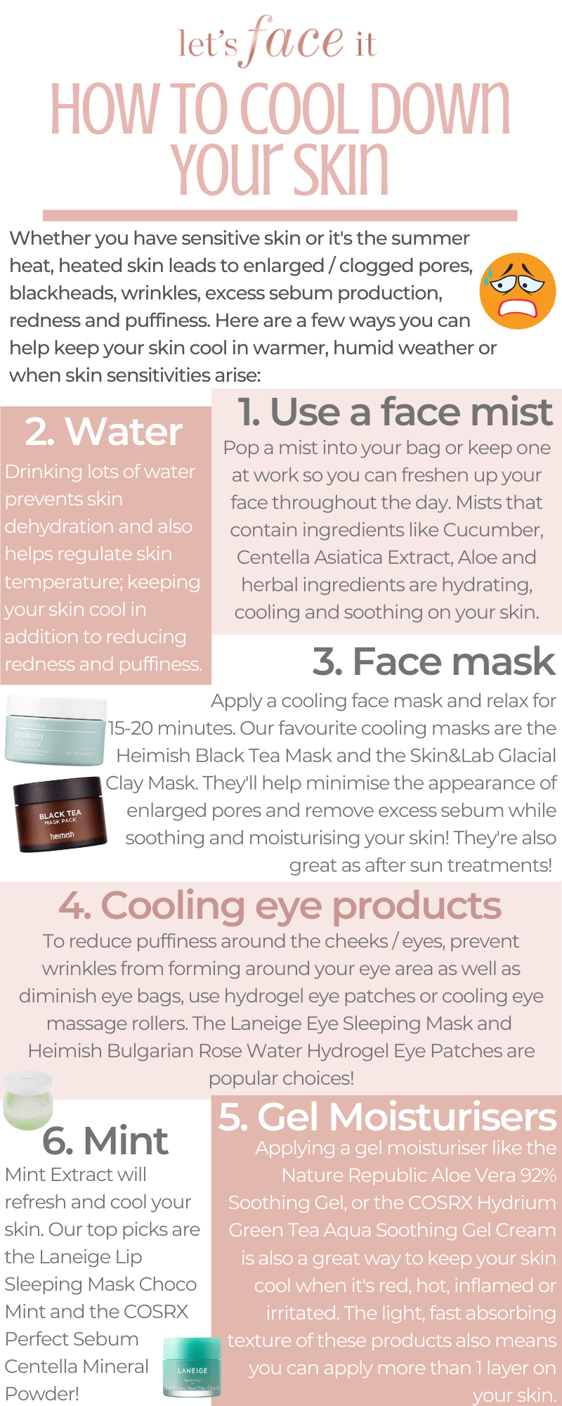 How To Cool Down Your Skin Korean Beauty